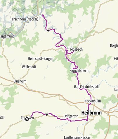 Karte / Mosbach – Eppingen (Deutsche Fachwerkstraße)