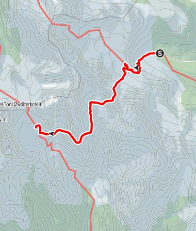 Map / Dolomites without borders - Stage 1: Rifugio Lunelli /Berti - Rifugio Carducci