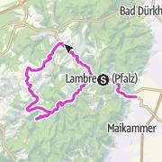 Karte / Mit dem Kuckucksbähnel u. dem Rennrad von Lambrecht durchs Elmsteiner Tal