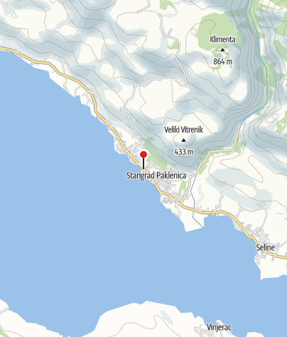 Map / Active outdoor holiday where Velebit touches adriatic sea