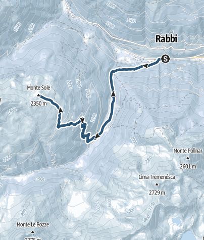 Map / Ski mountaineering on Monte Sole