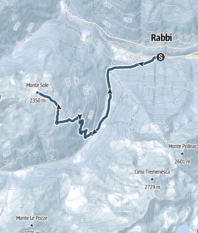 Karte / Skibergsteigen auf dem Monte Sole