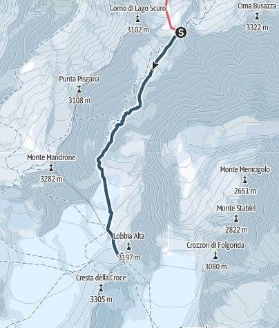 Cartina / Scialpinismo primaverile in Adamello