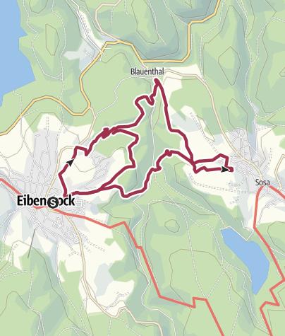 """Karte / Entdeckertour auf """"Wurzelrudis Erlebnispfad"""" Wildes Erzgebirge"""