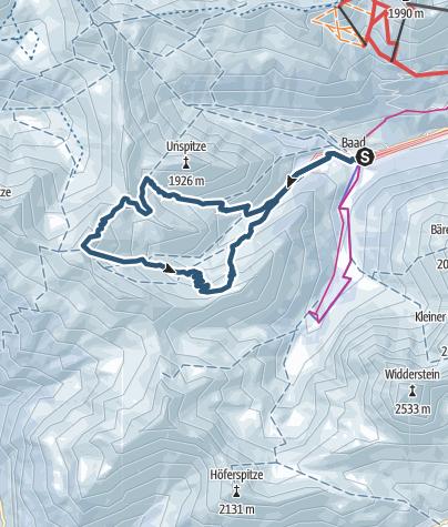 Karte / Skitour auf Güntlespitze und Wannenberg