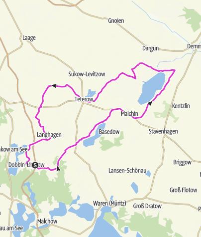 Karte / Rennradtour - Mecklenburgische Schweiz
