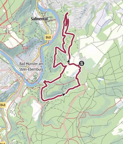 Karte / 3x3 Salinental: ClassicTour Rheingrafenstein