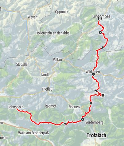 Map / Dürrenstein, Hochschwab und Gesäuse - von Lunz am See nach Johnsbach im Gesäuse