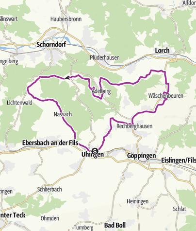 Karte / Östliche Schurwaldroute