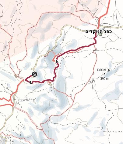 מפה / טיול הליכה בנחל רחף עליון