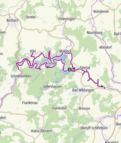 Karte / Kirchen am Eder-Radweg