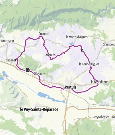 Map / Durch das Pays d'Aigues im Süd-Luberon