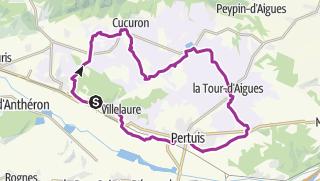 Karte / Durch das Pays d'Aigues im Süd-Luberon