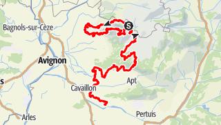 Map / La Grande Traversée du Vaucluse