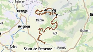 Karte / La Grande Traversée du Vaucluse