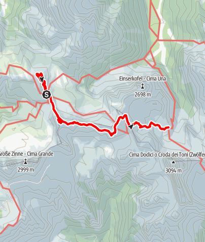 Map / Dolomites without borders - Stage 3: Three Peaks - Rifugio Comici