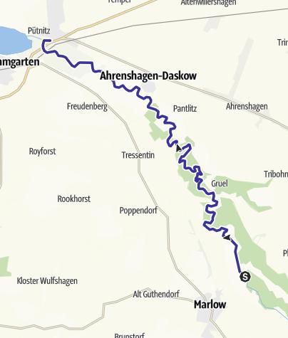 Karte / Recknitz-Tour