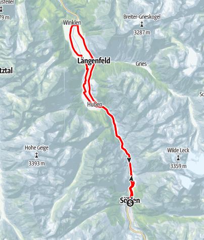 Karte / Rennradtour - Innerötztaler Trainingsrunde