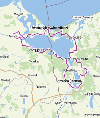Map / Stettiner Haff-Rundweg (Szczecin Lagoon Cycling Path)