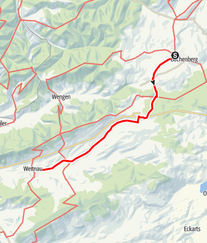 Karte / Buchenberg - Weitnau  Alternativstrecke Jakobus-Pilgerweg im Allgäu