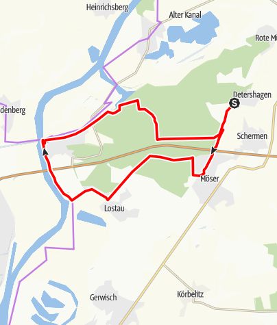 Karte / Külzauer-Forst Tour