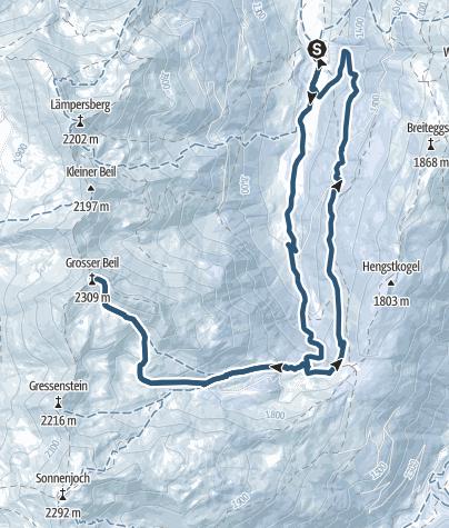 Karte / Grosser Beil 2309m / Wildschönau