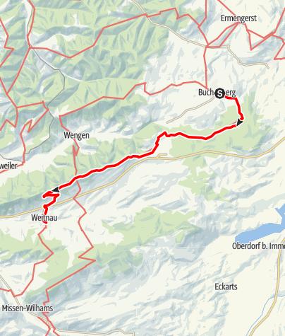 Karte / Buchenberg - Weitnau Jakobusweg im Allgäu