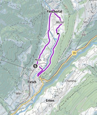 Karte / Aletsch Frauenlauf - von Fiesch nach Fieschertal und zurück