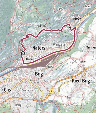 Karte / Massegga Hängebrücke