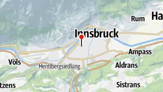 Karte / Innsbruck - Salzburg 3 Flüsse Radreise