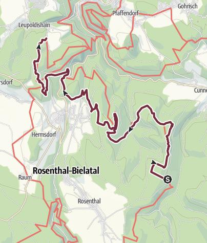 Karte / Forststeig - Etappe 5