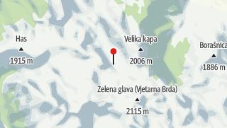 Map / Čvrsnica and Prenj mountains – hiking Herzegovina's Himalayas