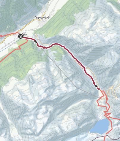 "Map / Suspension bridge ""Bodmer-Brücke"""