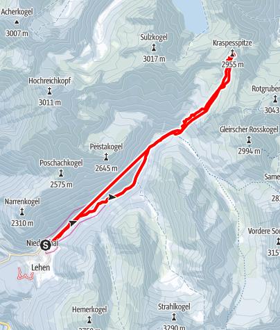 Karte / Kraspesspitze, 2.954 m