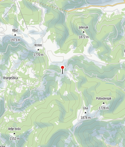 Karte / Hütte Katun  Backo brdo