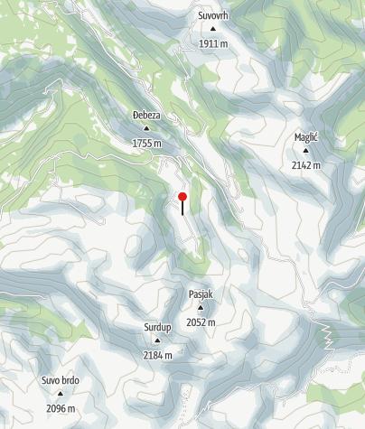 Karte / Hütte Katun  Jezero