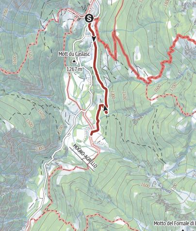 Cartina / I luoghi energetici di Fusio-Mogno