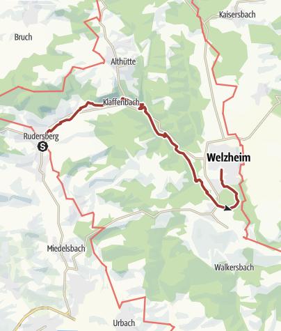 Map / Bahnerlebnispfad im Schwäbischer Wald