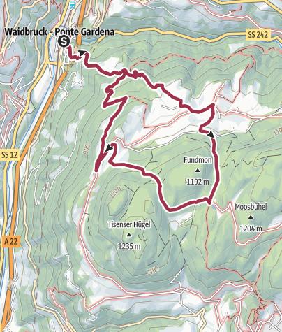 Karte / Von Waidbruck zur Trostburg und zur Radlmoos-Lacke