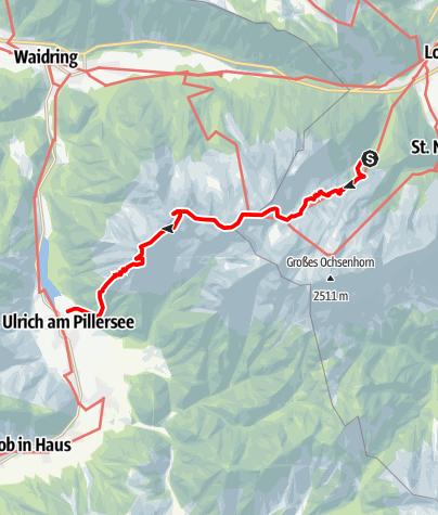 Karte / Auf dem Nuaracher Höhenweg über die Loferer Steinberge