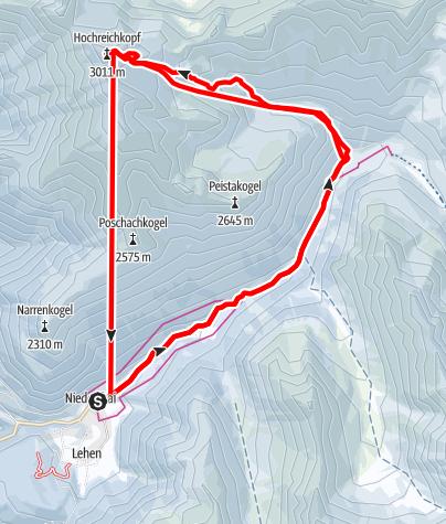 Karte / Hochreichkopf, 3.010 m