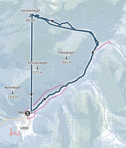 Map / Hochreichkopf