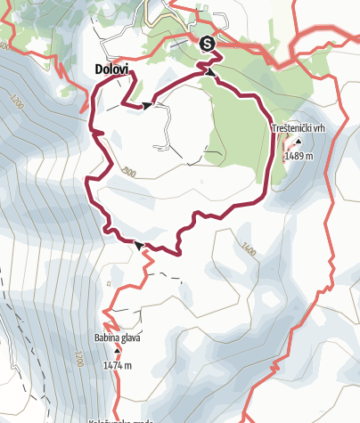 Map / Trail of numerous viewpoints – Wolf trail