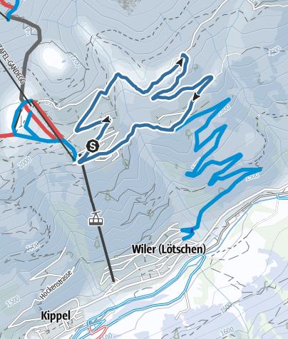 Karte / Provisorische Rundwanderung Lauchernalp