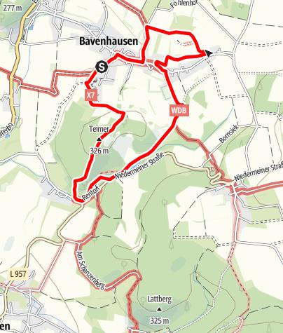 Karte / Waldfreundeweg Bavenhausen (Kalletal)