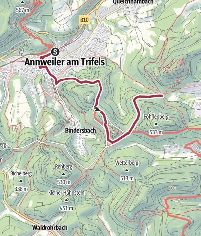 Karte / 03 Leinsweiler - Vom Bahnhof Annweiler zu Platz 3 Leinsweiler (über Burg Trifels)