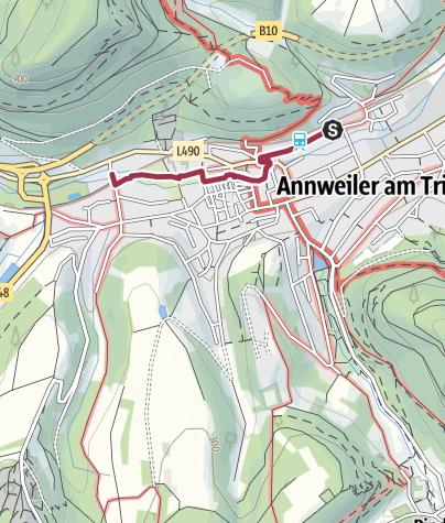 Karte / 04 Annweiler - Bahnhof Annweiler zu Platz 4 Annweiler