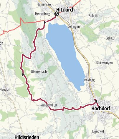Karte / Hitzkirch - Herlisberg - Römerswil - Hochdorf