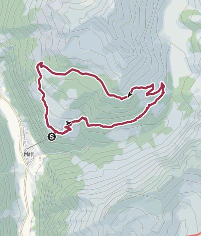 Karte / Rundwanderung Vorderegg