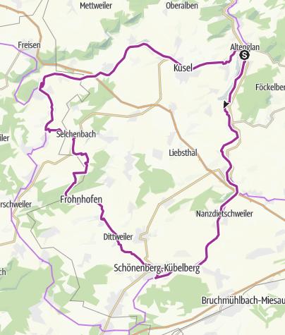 Karte / Glan-Blies-Radweg - Kirschroute - Saarland-Radweg - Fritz-Wunderlich-Radweg